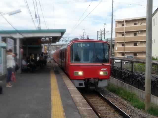2013-08-21 07:21 碧海古井 名鉄岐阜 いき ふつう
