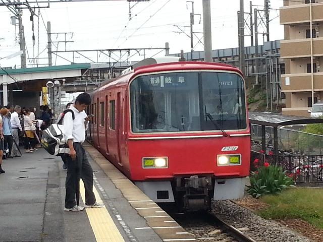 20131009 07:21 碧海古井 名鉄岐阜 いき ふつう