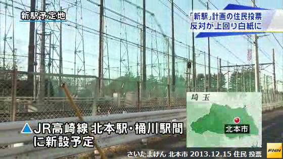 北本市の 高崎線 新駅 白紙に (FNNニュース) (2) 北本-桶川間