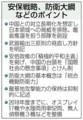 「国家 安全 保障 戦略」、「防衛 計画の 大綱」など (ちゅうにち)