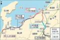 北陸新幹線 平行 在来線 4社 路線図 (信濃毎日新聞)