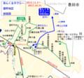 あんくるタクシー 里町地区 路線図
