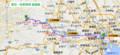 東京-奥多摩間 路線図 (あきひこ)