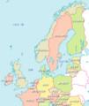 イギリス、スヱーデン、ドイツ 関係 地図