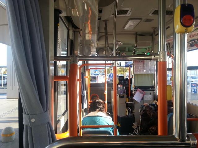 20140205 07.50.43 桜井線バス 安城更生病院出発直后