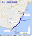 串本-新宮間 路線図