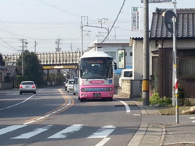 20140328 07.46.00 古井町内会バス停 - あんくるバス桜井線バス
