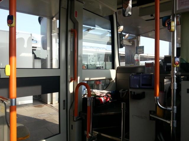 20140328 07.53.32 あんくるバス桜井線バス - 安城更生病院バス停