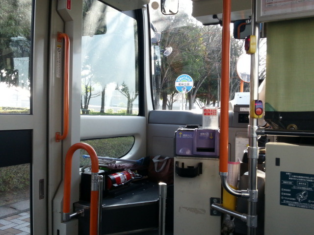 20140328 08.00.55 あんくるバス桜井線バス - 昭林公園バス停