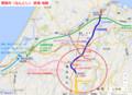 南砺市(なんとし)鉄道地図 (あきひこ)