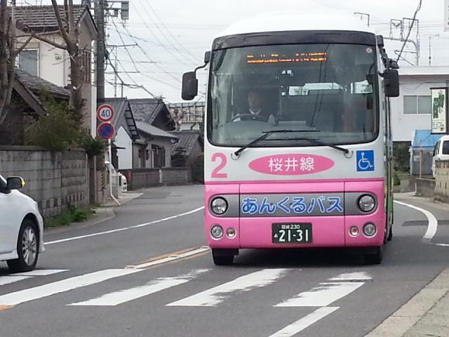 20140403 07.45.56 古井町内会バス停 - あんくるバス桜井線バス