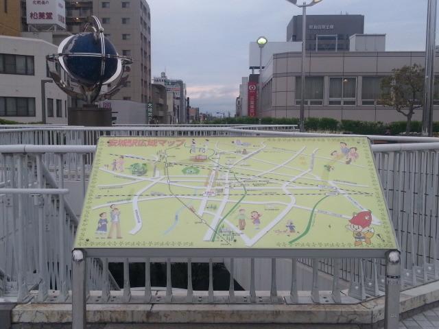 20140403 17.50.35 安城駅 - ペデストリアンデッキの案内看板