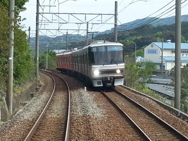 20140428 14.04.28 豊橋いき急行 - 本宿-名電長沢間ですれちがい