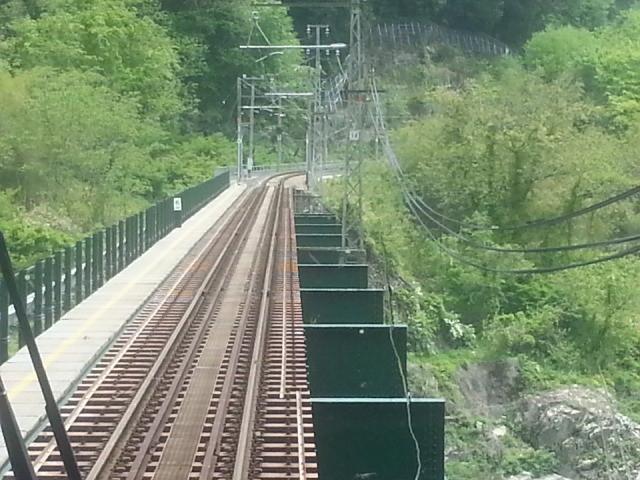 20140506 12.52.12 豊橋いきふつう - 天竜峡-千代間の鉄橋