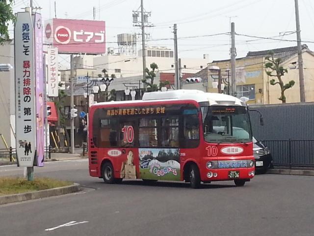 20140514 07.27.50 南安城 - あんくるバス循環線バス