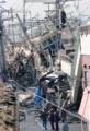 阪神電車の被害 - 新在家-大石間(神戸新聞 - 山崎竜さんさつえい)