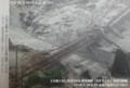 なしざわ周辺の土石流げんば (3) 2014.7.10 ながされた中央線鉄橋