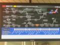中央線の運行休止をつたえる安城駅の電光表示板 - 路線図