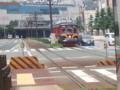 豊橋の路面電車 - 駅前大通ですれちがいにやってきた電車