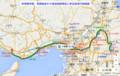 学研都市線、東西線まわり奈良発西明石いき電車運行路線図