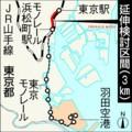 東京モノレール東京駅延伸検討地図(あさひ)