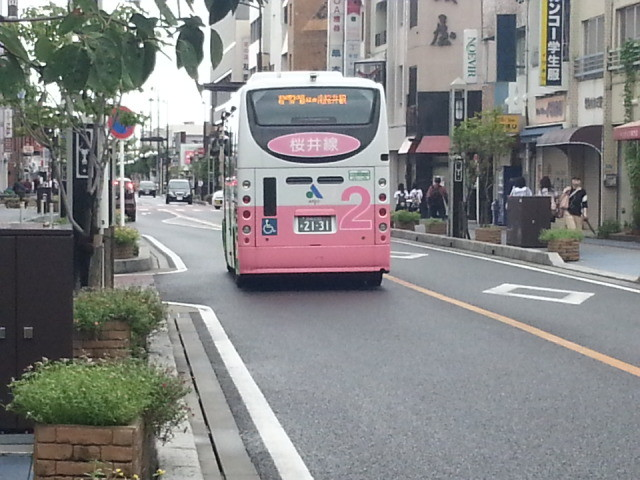 20140905 08.10.49 えきまえどおり - 桜井線バス