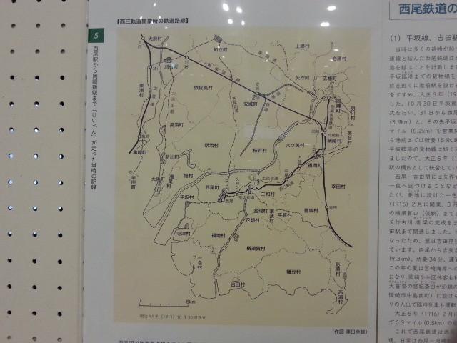西尾鉄道開業時の鉄道路線