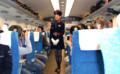 東海道新幹線の車内にJALのスチュワーデス@@! - 5代め