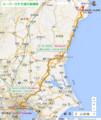 スーパーひたち運行路線図(あきひこ)