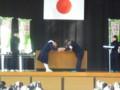 2014.12.22 篠目中キャンペーン (8) シールとポスターの贈呈