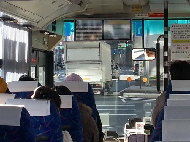 20141227_090816 東濃鉄道高速バス - 東新町北交差点