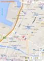 石津北停留場位置図(あきひこ)