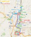 天童南駅の位置図(あきひこ)