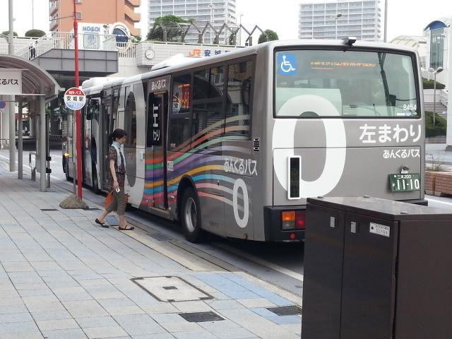 20150617_074043 あんじょうえき - ひだりまわり循環線バス