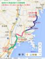仙台から気仙沼までの路線図(あきひこ)