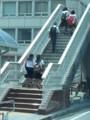 20150803_123313 あんじょうえきまえペデストリアンデッキの階段