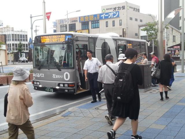 20150819_073940 あんじょうえき - ひだりまわり循環線バス