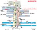 豊橋駅構内図 700-580