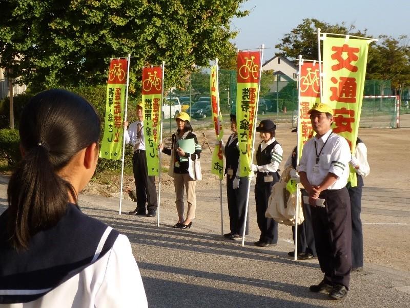 2015.10.6 あんじょう高校自転車安全利用キャンペーン (い)