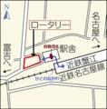 蟹江えきまえの地図(ちゅうにち)