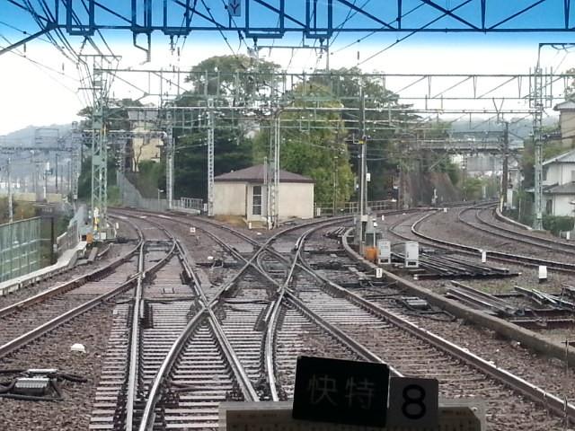20151114_124805  三崎口いき快特 - 堀ノ内(本線と久里浜線が分岐)