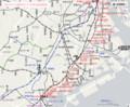 品川から横浜までの京急路線図(あきひこ)