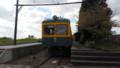 旧月潟駅に保存されとる新潟交通の電車(あさひ)640-360