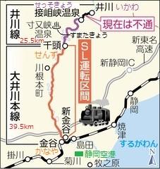 大井川鉄道の路線図(ちゅうにち)