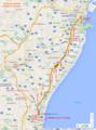 伊勢鉄道の路線図(あきひこ)