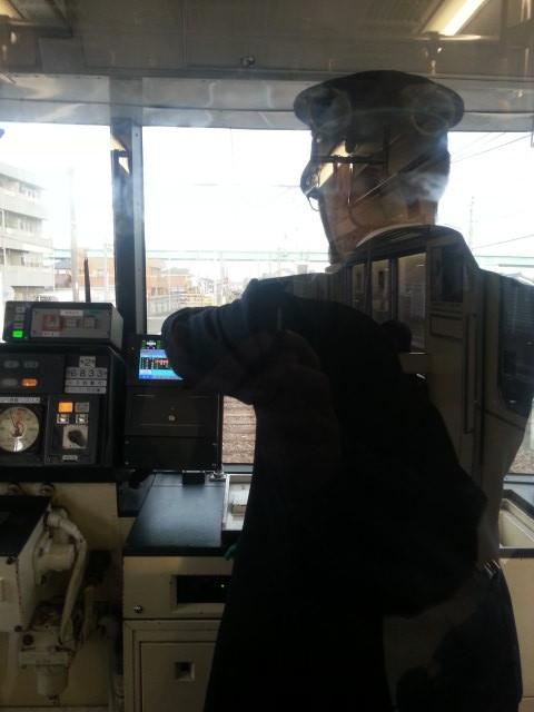 20160107_161447 運転士さんが苅安賀ではんたい電車まちの案内放送