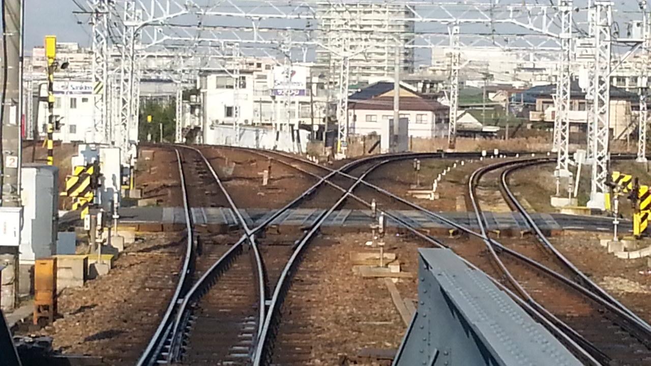 20160111_094225 名鉄岐阜いき特急 - 枇杷島分岐点