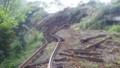 2016.4.17 大量の土砂におおわれた南阿蘇鉄道の線路