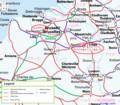 ベルギーの鉄道路線図 (Eurail.com)