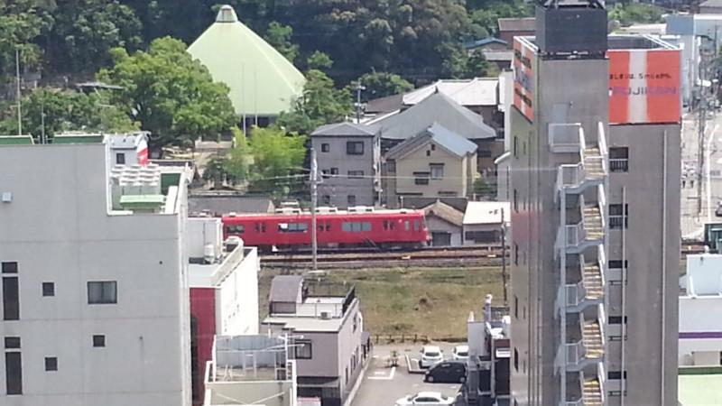 20160705_131243 西三河総合庁舎10階からみたあかい電車